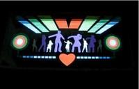 Free Shipping!50x30cm DJ Dancing Music Design Activated car EL sticker equalizer glow LED light Flashing Car Music rhythm lamp