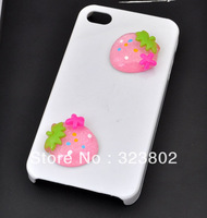Pink Cherry Flatback Resin Cabochon Cell Phone Case DIY Handmade Decoration Accessory 36PCS