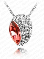 free shippign white gold plated top grade crystal unique design pendant necklace Valentine's Day GIFT party,engagement
