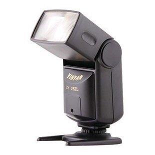 1PCS/Lot Sale YinYan CY-26ZL Universal Auto Flash Unit for Canon Nikon(China (Mainland))
