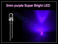 3MM  5MM Purple /  UV  LED each 50pcs, Ultra Bright LED Diode+200pcs 430ohm resistors Free shipping
