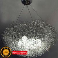 Pendant Lights New Aluminum Wire Bird's Nest Chandelier Ceiling Light Pendant Lamp Lighting Backstreet01