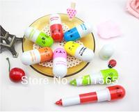 Free Shipping 2012 Office supplies Retractable pen/Ball point cartoon Telescopic face Capsule pills Pen 100pcs/lot