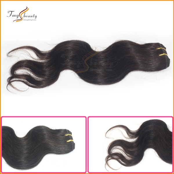 NEW!! 3Pcs A Lot Free Shipping 100% Wholesale India Remy Human Hair Loose Wavy(China (Mainland))