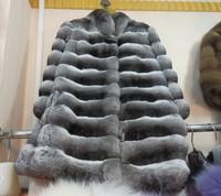 Free shipping -fashion noble lady fur coat,100% Chinchilla fur ,top quality