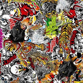 4.95x13.2ft Car Scrawl Vinyl Auto Graffiti Sticker for Car Tattooing 1.5x4m Item Located in US