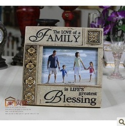 Resin POYL Vintage Style 6 inch Photo Picture Framesusa Antique gold hollow out Memorial Picture Frame furniture living room(China (Mainland))