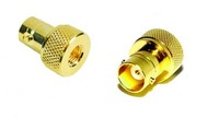 SMA - BNC adapter SMA male Plug to BNC female jack goldplated RF coax connector adapters straight  10pcs/lot