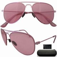 Free shipping S12016 stainless steel frame pink lenses lightweight kid's aviator sunglasses pink frame