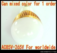 6pcs/Lot Dimmable 110V 220V E14 3W LED lamp Globe Bulb spot Light down lights Lighting AC85V-265V LB3