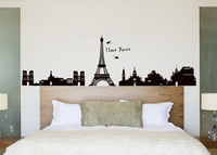 EIFFEL TOWER wall Stickers Mural PARIS Room Decor Art Vinyl Decals Black Newest 2149