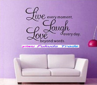 LIVE WELL LAUGH OFTEN LOVE MUCH Vinyl Wall Decal Sticker Word Art Saying NEW