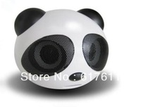 2013 hot selling The Panda USB cartoons Bluetooth  mobile phone speaker laptop free shipping
