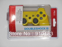 high quality yellow color duleshock3 wireless bluetooth controller for PSIII