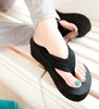 Fashion wedges platform flip platform slippers black high heel flip flops