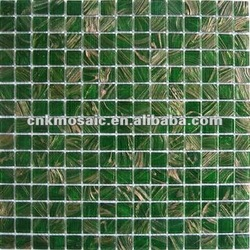 G68 Green Golden Star Glass Wall Mosaic Tiles(China (Mainland))