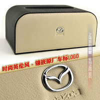 Free shipping 2012 Cortical British Style Mazda 2/3/5/6 Core-wing Car Tissue Box Christmas