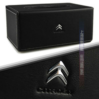 Free shipping Luxury Cortical Citroen C-quater/C-triomphe/C5/C2/C4/Picasso/Elysee Tissue Box Christmas
