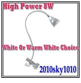 Wholesale 5pcs White LED desk lamp High Power 8W LED reading lighting table lamps Warm White for choice(China (Mainland))
