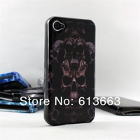 Wholesale Hot Sale Ghost skeleton Skull handle feel Back case for iphone 4/4S,100pcs/lot,free shipping