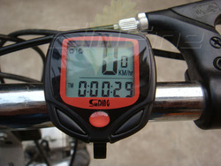 LCD Display Waterproof Bicycle Computer Odometer Speedometer 16 Functions with blister retail packing(China (Mainland))