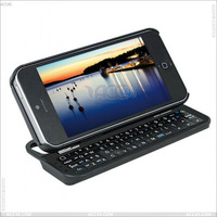 Standing and Sliding wireless Bluetooth Keyboard Case Cover for iPhone 5 P-IPH5BLUEKB0013