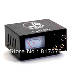 Black Tattoo Power Supply Steel Pointer Power Unit(China (Mainland))