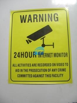 Security Sign/ warning sign for CCTV Camera CCTV System CCTV signs