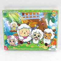 Educational toys child puzzle pleasant goat and big big wolf 100 pcs