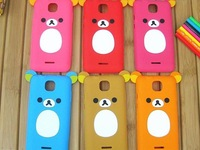 New Arrival!!! Free shipping**100pcs/lot** soft silicone cute bear case for Samsung I9100 galaxy SII by DHL with retail package
