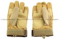 Tactical Full Finger Hard Knuckle Soft Leather Gloves (Sand) GL-06