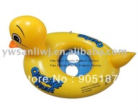 Free shipping inflatable kids seat boat with a pump inflatable duck float duck boat inflatable seat boat for kids