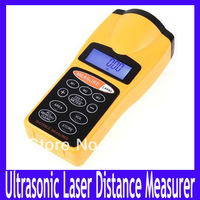 Free shipping  Ultrasonic Distance Measurer,LCD Ultrasonic Laser Pointer ,Distance Measurer ,2pcs/lot