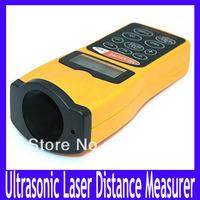 Free shipping  60ft Ultrasonic  laser Distance Measurer,LCD Ultrasonic Laser Pointer ,5pcs/lot
