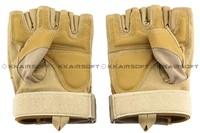 Tactical Half Finger Gloves Sand [GL-11-SD]