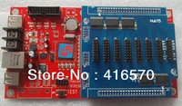 video and animation full color led display controller with free hub board and support wireless 3G, WIFI and GPRS
