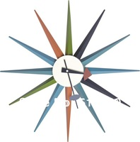 Multi-color George Nelson starburst Clock, wall clock.