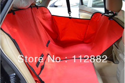 Free Shipping- Two Seat Pet Cover, Waterproof Dog Car Seat Cover, Pet Car Mat / Brown, Black, Red, Blue Wholesale(China (Mainland))