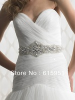 Luxurious crystal beaded wedding dress belt wedding dress sash wedding dress waistband 2013 JY106
