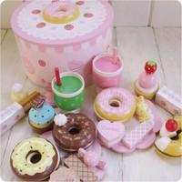 Novel 2013 Christmas Halloween Mother Garden Wooden Strawberry Donuts Child Kitchen Toy Set