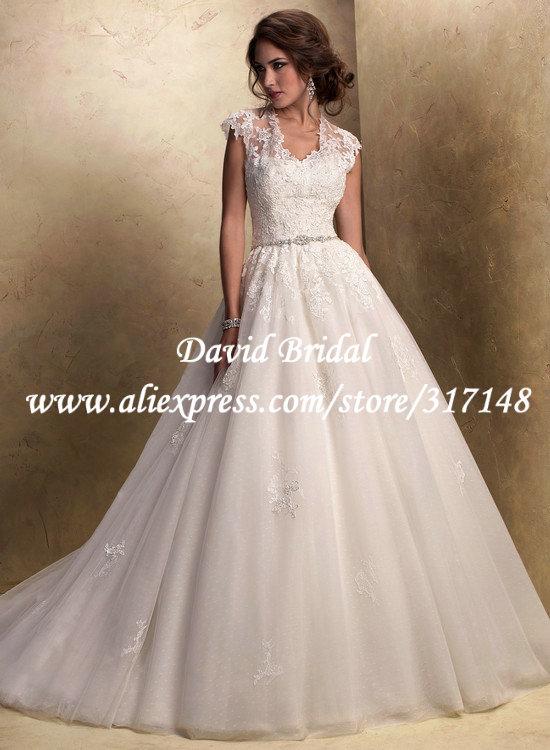 Ball gown wedding dresses cap sleeves – The Best Wedding ...