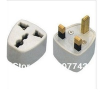 TRAVEL PLUG ADAPTER Converter Universal 10 pcs/lot USA/AU/EU to UK Converter Travel Adaptor wall britishPlug