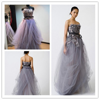 Strapless Sweetheart Neckline Organza Short Wedding Dress with Feathers at hem Ivory Short Reception Dress 951 Free Shipping