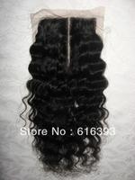 "Custom Order 12"" #1b Italy Curl Virgin Brazilian Lace Top Closure(3.5"" x 4"")"