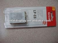 free shipping +20pcs/lot,LP-E8 LPE8 E8 Digital Camera Battery For Rebel T2i EOS 550D myefox PBP004