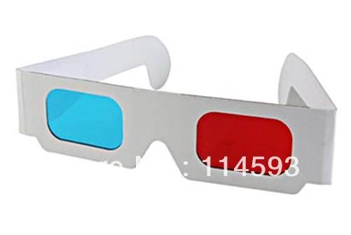DHL FREE POST White And Blue Paper 3D Glasses/Paper Frame Resin Lens 3D Paper Glasses 10000pcs/lot(China (Mainland))