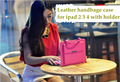 2013 Newest Hand Bag Luxury PU Leather Case for iPad 2 3 Cover Handbag for iPad 4 Cases With Stand Holder Multifunction