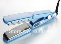 Free Shipping Hot Sale Hair Straightening Iron Pro Nano Titanium 1 3/4 Bivolt for South America