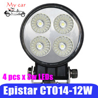 "3.3""12W Flood beam LED Work Light for outdoor/loading/parking/camping, Epistar LED Work Lamp with CE, off-road vehicle led light"