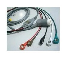 free shipping hot promtion Datex Ohmeda ECG Cable ,medical cable,spo2 probe,ECG cable(China (Mainland))